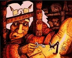 """steelgrave """"The Ambassator from Toybox"""", La vecchia Alluvius Ruskin scopre un nuovo portale - by steelgrave (Shaun) steelgrave.deviantart.com (2009) © dell'autore tutti i diritti riservati"""