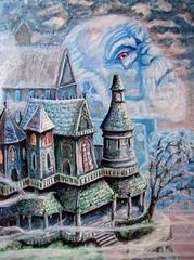 """steelgrave ravenloft """"Gryphon Manner"""", con il fantasma di Wilfred Godefroy - by steelgrave (Shaun) steelgrave.deviantart.com (2008) © dell'autore tutti i diritti riservati"""