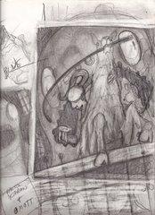 """steelgrave sketch """"Ooze Portal Fishing"""" schizzo 1 - by steelgrave (Shaun) steelgrave.deviantart.com (2013) © dell'autore tutti i diritti riservati"""