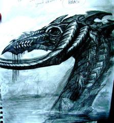 """steelgrave """"Black Dragon"""", schizzo - by steelgrave (Shaun) steelgrave.deviantart.com (2009) © dell'autore tutti i diritti riservati"""