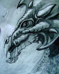 """steelgrave """"Brass Dragon"""", schizzo - by steelgrave (Shaun) steelgrave.deviantart.com (2009) © dell'autore tutti i diritti riservati"""