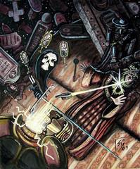 """steelgrave """"Confronting The Demilich"""" - by steelgrave (Shaun) steelgrave.deviantart.com (2009) © dell'autore tutti i diritti riservati"""