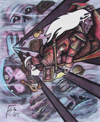 """steelgrave ravenloft """"Carpet Escape"""", un drow e uno gnomo sembra in fuga da delle potenze di ravenloft.. - by steelgrave (Shaun) steelgrave.deviantart.com (2009) © dell'autore tutti i diritti riservati"""