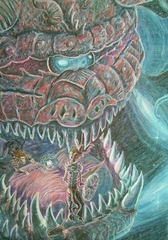"""steelgrave """"Dreadnought"""" e sfortunati githyanki nell'Astrale - by steelgrave (Shaun) steelgrave.deviantart.com (2007) © dell'autore tutti i diritti riservati"""
