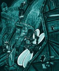 """steelgrave glass golem """"Stained Glass"""", ma i golem di vetro fanno davvero paura? - by steelgrave (Shaun) steelgrave.deviantart.com (2009) © dell'autore tutti i diritti riservati"""