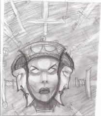 """steelgrave sketch """"Angular Lady of Pain"""", schizzo numero 3 - by steelgrave (Shaun) steelgrave.deviantart.com (2013) © dell'autore tutti i diritti riservati"""