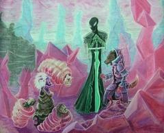 """steelgrave night hag ultroloth larvae arcanaloth """"Fiendish Negotiations"""" con un ultroloth dall'aria poco soddisfatta - by steelgrave (Shaun) steelgrave.deviantart.com (2007) © dell'autore tutti i diritti riservati"""