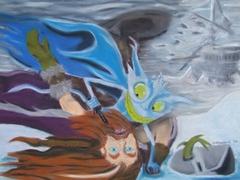 """steelgrave mephit """"Trapped in Ice"""" - by steelgrave (Shaun) steelgrave.deviantart.com (2006) © dell'autore tutti i diritti riservati"""