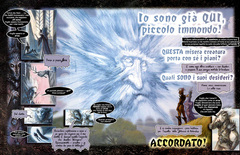 Planescape graphic novel the bargain ita italiano by diterlizzi and ruppel, abyss cambion zaxarus aasimon light arcanaloth