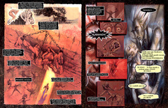 Planescape graphic novel the bargainita italiano by diterlizzi and ruppel, abyss cambion zaxarus osyluth marilith alamanda