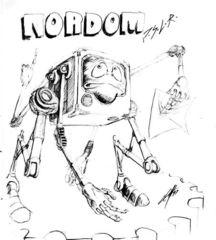 Planescape Torment Sketch - Nordom schizzo preparatorio by Chris Avellone (1999)