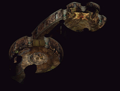 Planescape Torment building map - Step 3, rendering della mappa definitiva -Fell's Tattoo Parlor- (1999)