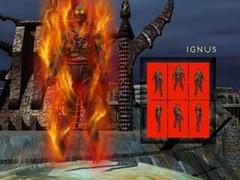 Ignus, scheda modello personaggio giocante Planescape Torment rendering preparatorio - (1999)