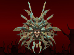 Lady of Pain logo Planescape Torment rendering preparatorio - (1999)