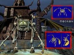 Nordom, scheda modello personaggio giocante Planescape Torment rendering preparatorio - (1999)