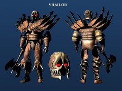 Vhalior, modello definitivo fronte retro Planescape Torment rendering preparatorio - (1999)
