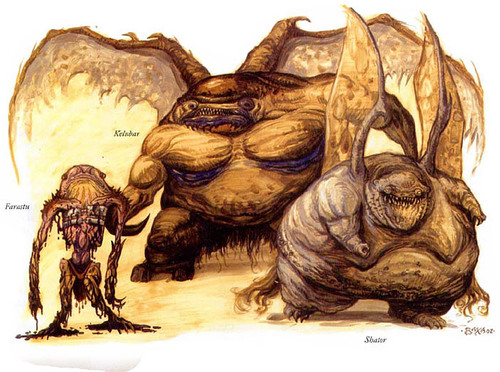 {$tags} Gehreleth (o Demodand): Farastu, Kelubar e Shator - by Thomas Baxa Fiend Folio (2003) © Wizards of the Coast & Hasbro