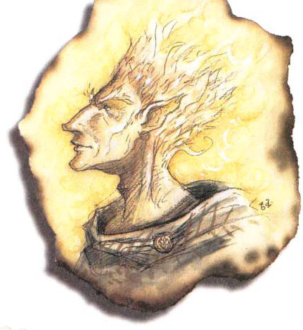 fire genasi Genasi del Fuoco - by Tony Diterlizzi TSR - The Planewalker's Handbook (1996-08) © Wizards of the Coast & Hasbro