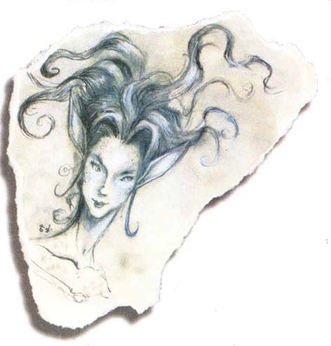 water genasi Genasi dell'Acqua - by Tony Diterlizzi TSR - The Planewalker's Handbook (1996-08) © Wizards of the Coast & Hasbro