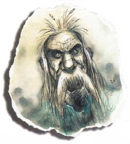 earth genasi Genasi della Terra - by Tony Diterlizzi TSR - The Planewalker's Handbook (1996-08) © Wizards of the Coast & Hasbro