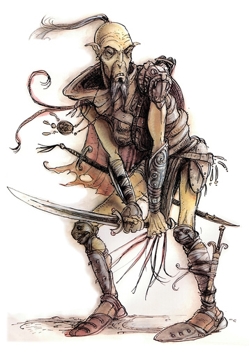 {$tags} Githzerai: Karan, Factol (?) Xaositect di Sigil - by Tony Diterlizzi TSR - Monstrous Compendium appendix I (1994-06) © Wizards of the Coast & Hasbro