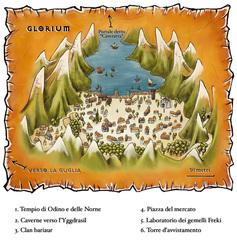 """outlands gate-town map Mappa di Glorium - by Geneviève """"Morgege"""" Morge, su """"Le Rat Crevé"""" www.ratcreve.com (2008-2013) © Le Rat Crevé"""