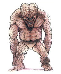 {$tags} Golem Cerebrale - by Tony Diterlizzi TSR AD&D 2ed Monstrous Compendium Annual vol.1 (1994-12) © Wizards of the Coast & Hasbro
