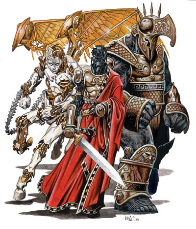 {$tags} Inevitabili: Zelekhut, Kolyarut e Marut - by Wayne Reynolds D&D 3.5 edition Monster Manual I (2003) © Wizards of the Coast & Hasbro