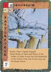 "layer ysgard ""Jotunheim"" - by Rob Lazzaretti TSR - ""Blood Wars"" card game Base Pack (1995) © Wizards of the Coast & Hasbro"