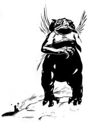 {$tags} Gehreleth Kelubar - by Jim Holloway TSR AD&D 1st ed. Monster Manual II (1982) © Wizards of the Coast & Hasbro