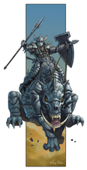 {$tags} Kuldurath e cavaliere Ferrumach - by Mark Sasso Fiend Folio (2003) © Wizards of the Coast & Hasbro