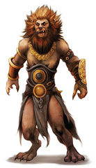{$tags} Guardinal (agathion) leonal - by Eva Widermann Pathfinder Roleplaying Game Bestiary 2 (2011-01) © Paizo Publishing, Wizards of the Coast & Hasbro