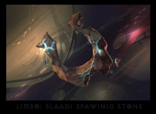 "ronamis ""Limbo - the Spawning Stone"", cartolina dei Piani Esterni - by ronamis (Michael Malkin) ronamis.deviantart.com (2013) © dell'autore tutti i diritti riservati"