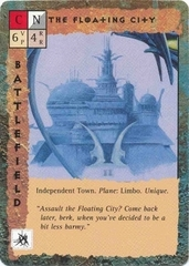 "limbo ""The Floating City"", la città galleggiante gith - by Dana Knutson TSR - ""Blood Wars"" card game Base Pack (1995) © Wizards of the Coast & Hasbro"