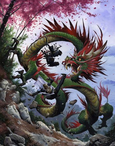lung dragon Drago lung - by Wayne Reynolds Pathfinder Campaign Setting, //Dragon Empires Gazetteer// **2011-12** © Paizo Publishing