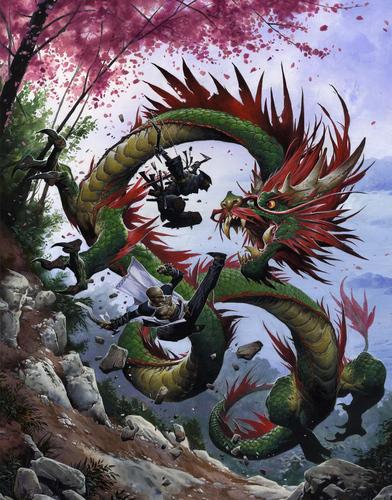lung dragon Drago lung - by Wayne Reynolds Pathfinder Campaign Setting, //Dragon Empires Gazetteer// **2011-12** © Paizo Publishing