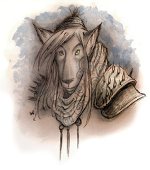 {$tags} Lupinal - by Tony Diterlizzi TSR Planescape Monstrous Compendium Appendix II (1995) © Wizards of the Coast & Hasbro