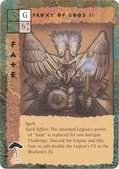 "guardinal ""Proxy of Good II"", Lupinal e due deva - by Tony Diterlizzi TSR - ""Blood Wars"" card game Escalation Pack 3, Powers & Proxies (1995) © Wizards of the Coast & Hasbro"