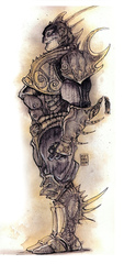 {$tags} Marut - by Tony Diterlizzi TSR - Planescape Monstrous Compendium, Appendix I (1994) © Wizards of the Coast & Hasbro