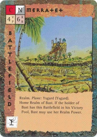 """ysgard """"Merratet"""", il reame di Bastet - by Rob Lazzaretti TSR - """"Blood Wars"""" card game Base Pack (1995) © Wizards of the Coast & Hasbro"""