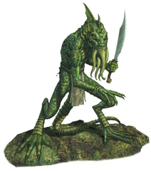 {$tags} Mezzo-illithid lucertoloide - by Marc Sasso D&D 3rd edition Fiend Folio (2003) © Wizards of the Coast & Hasbro