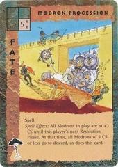 "outlands ""Modron Procession"", monodroni nella Grande Marcia - by David C. Sutherland III TSR - ""Blood Wars"" card game Escalation Base Pack (1995) © Wizards of the Coast & Hasbro"