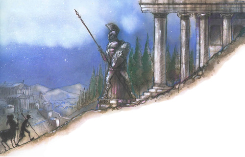 mount olympus Sulle pendici del Monte Olimpo - by Tony Diterlizzi TSR - Planes of Chaos (1994-07) © Wizards of the Coast & Hasbro