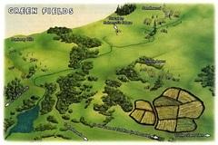 green fields mount celestia Una parte delle Distese Verdeggianti - by Roy Boholst TSR - On Hallowed Ground (1996-09) © Wizards of the Coast & Hasbro