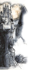 celestia La città di Soqed Hezi - by Tony Diterlizzi TSR - Planes of Law, Mount Celestia (1995-01) © Wizards of the Coast & Hasbro