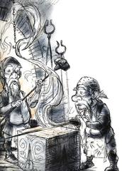 soul forge celestia La Forgia dell'Anima di Moradin - by Tony Diterlizzi TSR - Planes of Law, Mount Celestia (1995-01) © Wizards of the Coast & Hasbro
