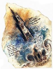 tower of fire celestia La Torre di Fuoco su Lunia - by Tony Diterlizzi TSR - Planes of Law, a Player's Guide to Law (1995-01) © Wizards of the Coast & Hasbro