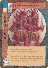 "{$tags} ""Hardhead Dwarves"", nani testequadre del monte Clanggedin su Arcadia TSR - ""Blood Wars"" card game Pack 2, Factols & Factions (1995) © Wizards of the Coast & Hasbro"