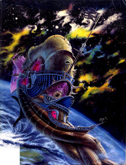 spelljammer illithid ship Nautiloide Illithid nello spazio tra i mondi - by Paul Jaquays TSR - Practical Planetology (1991-06) © Wizards of the Coast & Hasbro
