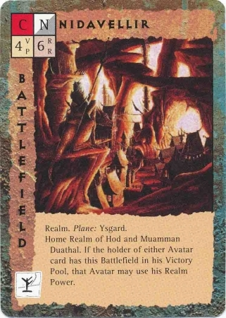 "ysgard ""Nidavellir"" - by Dana Knutson TSR - ""Blood Wars"" card game Base Pack (1995) © Wizards of the Coast & Hasbro"